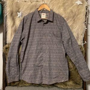 Levi's Grey Bandana Printed Button Down Shirt